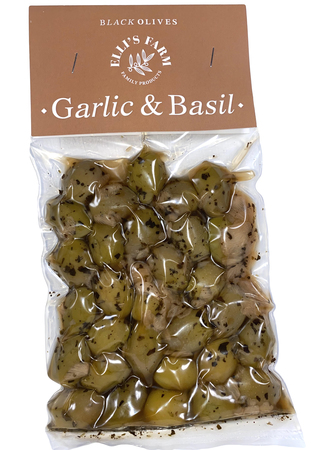 Oliwki z czosnkiem i bazylią 250g (1)